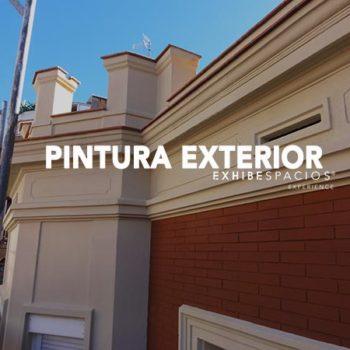 PRESUPUESTO de pintura en Barcelona PINTURA EXTERIOR DE FACHADA, CORNISAS IMITACIÓN LADRILLO ROJO;