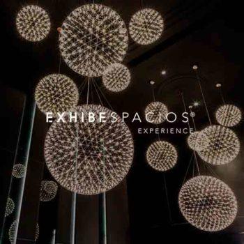 decoración de vestíbulo y escalera comunitaria en Barcelona con Lamparas LED